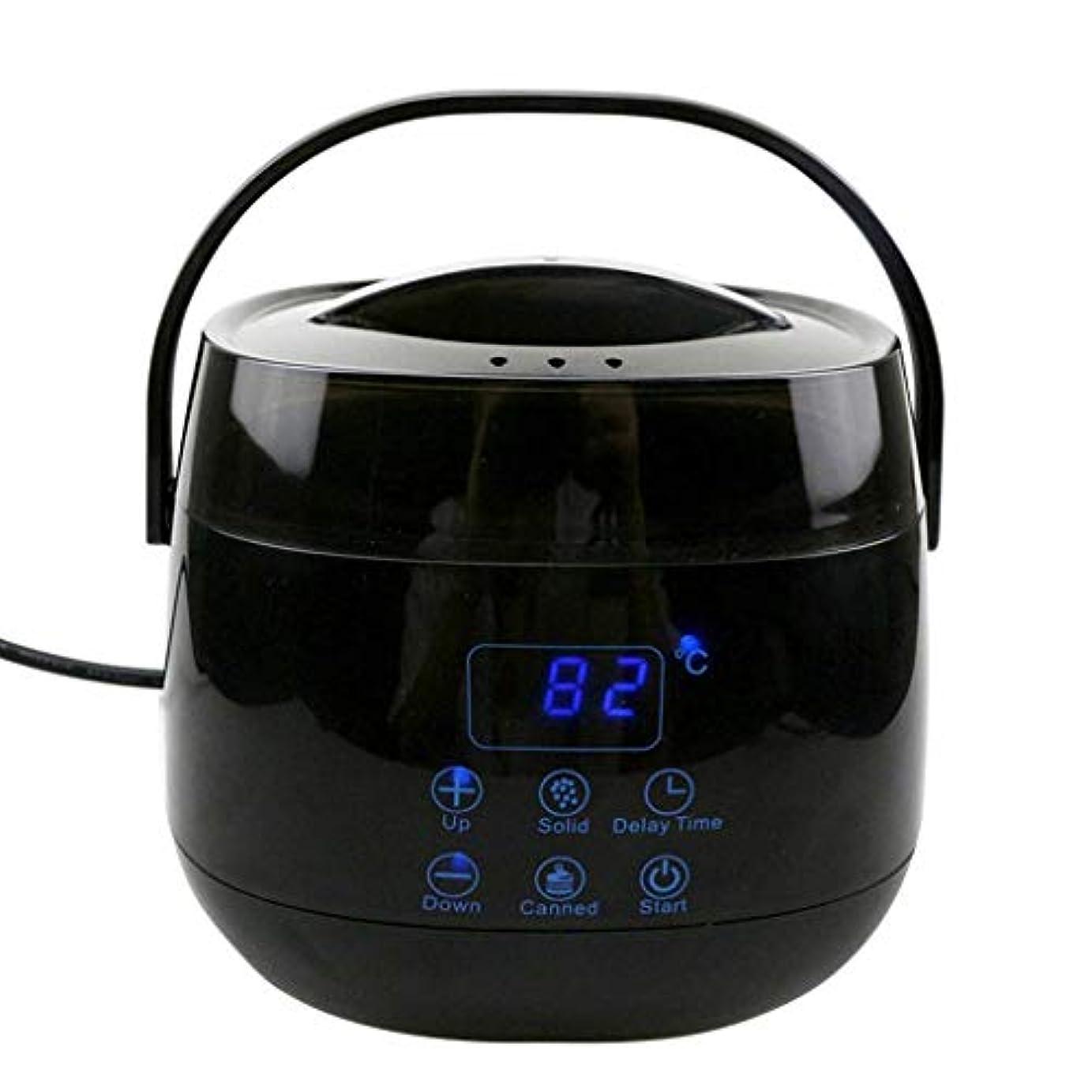 簿記係踏みつけ効果的ハードワックスLED表示ハードワックスワックスアプリケーターは、インテリジェント温度ワックスウォーマーワックスがけアプリケーターコントロールシステムタッチボタン急速融解スティック