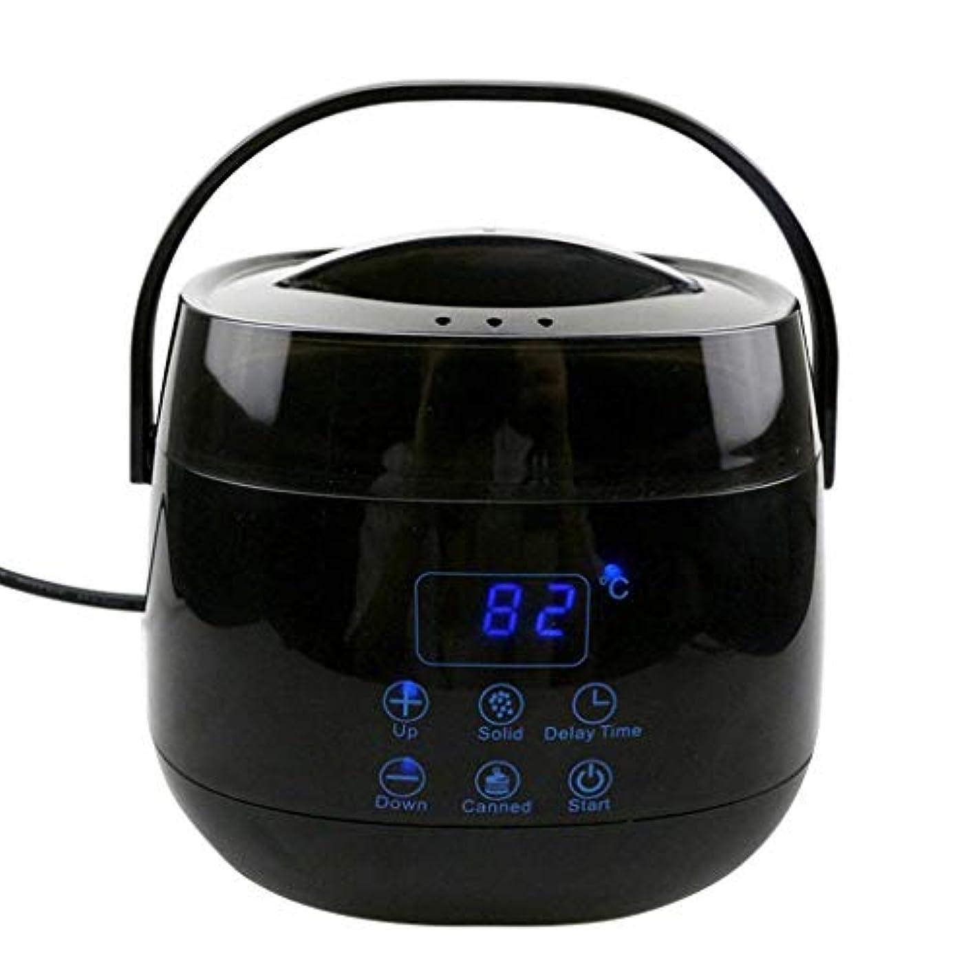 レパートリー広くデコードするハードワックスLED表示ハードワックスワックスアプリケーターは、インテリジェント温度ワックスウォーマーワックスがけアプリケーターコントロールシステムタッチボタン急速融解スティック