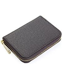 Rose コインケース ビジネス 財布 小銭入れ メンズ 二つ折り財布 レザー ラウンドファスナー ラウンドジップ カード入れ