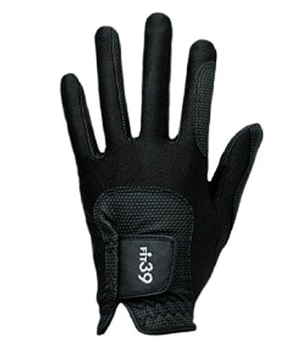 ミックゴルフ(MIC 39 GOLF) FIT39 グローブ ユニセックス MGF-220N 左手着用(右利き用) 黒/黒 Sサイズ