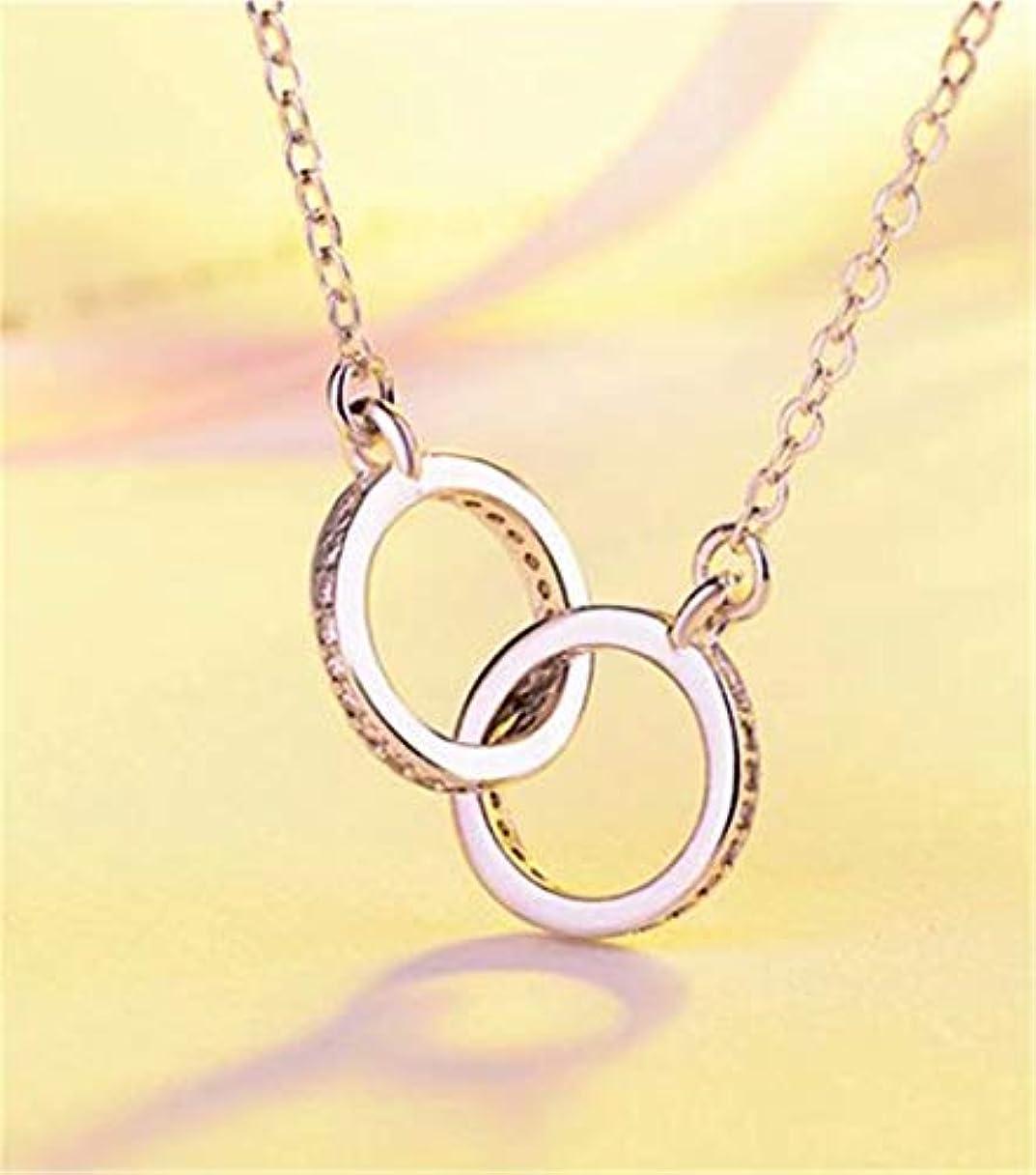彼女の求めるジョグ七里の香 ネックレス レディース ダブル リング シルバー シンプル プレゼント