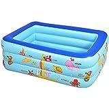 膨脹可能なプールの泡最下の子供用プール2.1 Mの家族用浴槽、大人および子供のために適した携帯用プール、 (Color : Blue, Size : 210x145x65cm)