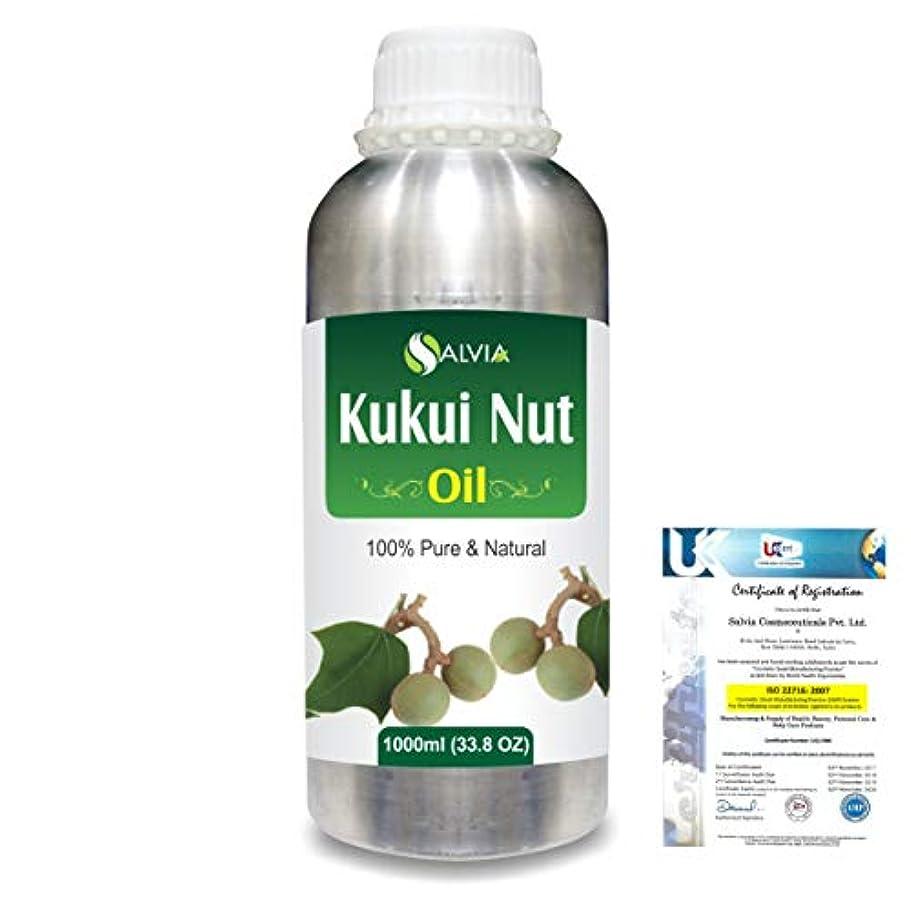 キャプションショッキング発疹Kukui Nut (Aleurites Moluccans) Natural Pure Undiluted Uncut Carrier Oil 1000ml/33.8 fl.oz.