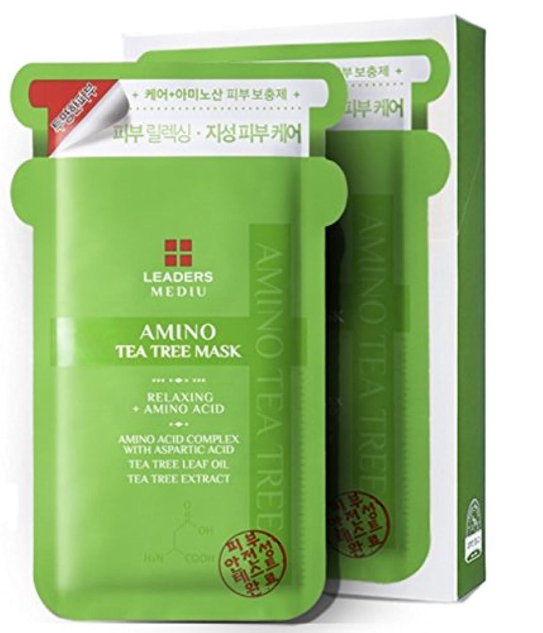 スピーカー詳細にスーツケース[LEADERS] リーダーズメディ有アミノティーツリーマスク 25ml x10枚 (LEADERS MEDIU Amino Tea Tree Mask 25mlx10ea) [海外直送品]