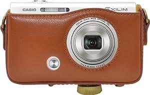 PLATA CASIO EXILIM EX-ZR50 カメラケース & ストラップ セット 【 ブラウン 】 CC-CSZR50-1BR