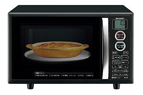 シャープ オーブンレンジ トースト機能付き 15L ブラック ...