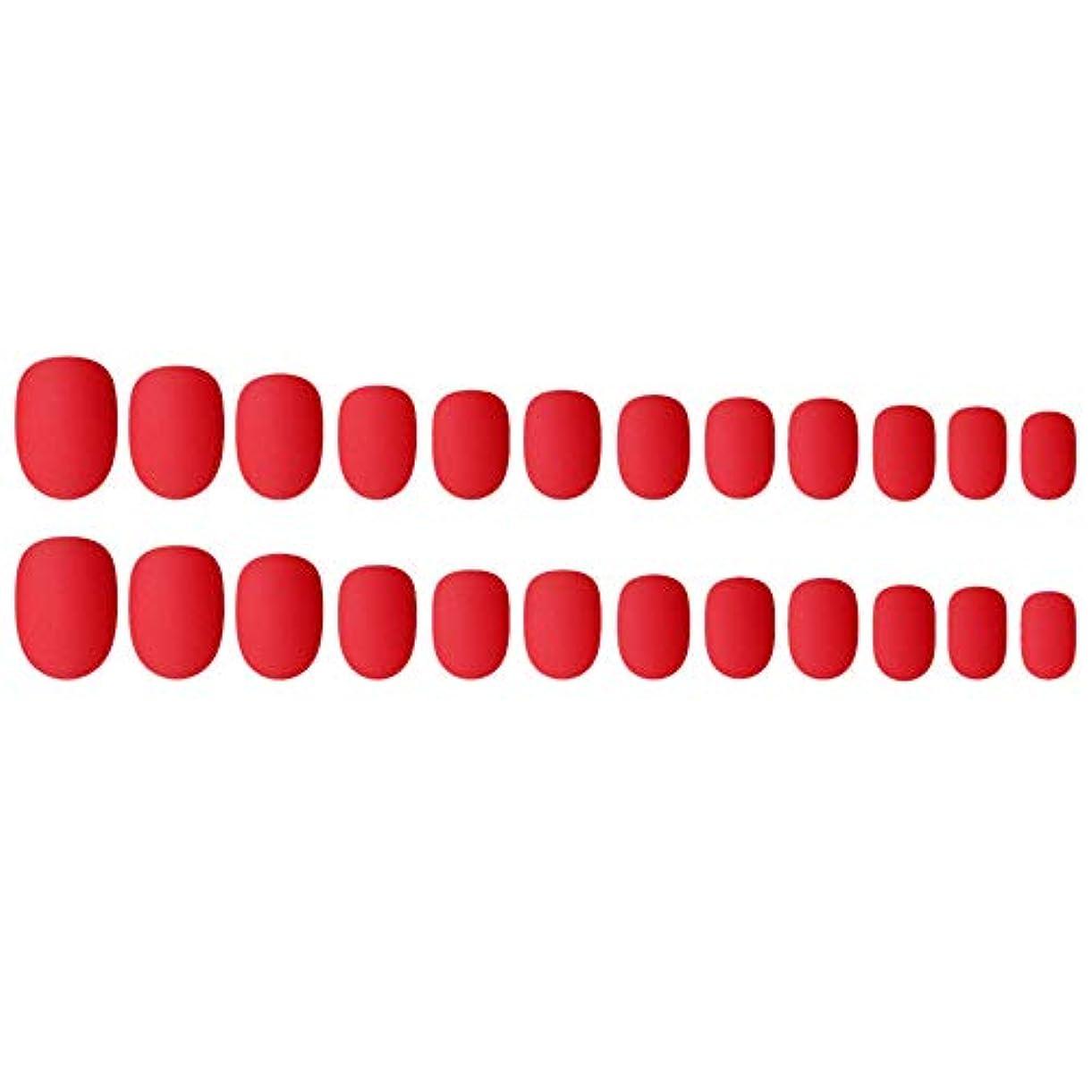 罪人恐ろしいです経験Decdeal ネイルチップ 24ピース 偽ネイルのヒント 12種類のサイズ ネイルサロン diy ネイルアートツール