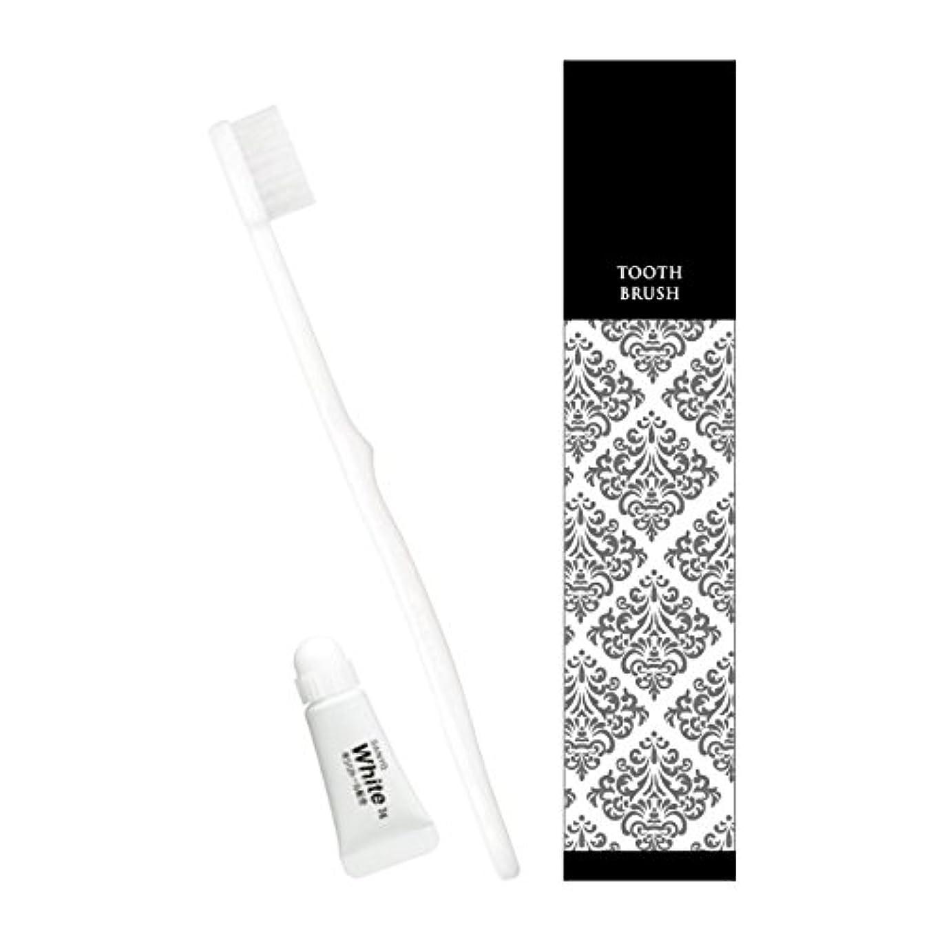 湿度光電ハンバーガーピエンタ ホテル業務用ハブラシ(白)28穴 3gチューブ付 250本