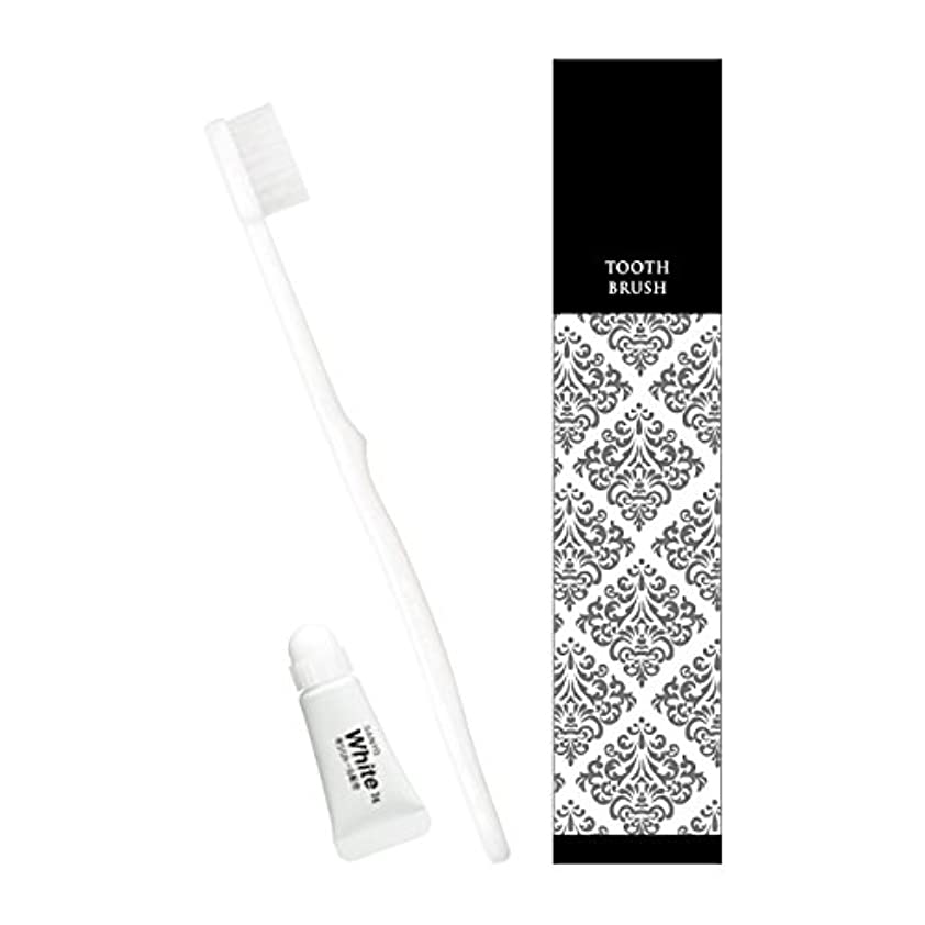 ディプロマ石化する整理するピエンタ ホテル業務用ハブラシ(白)28穴 3gチューブ付 500本