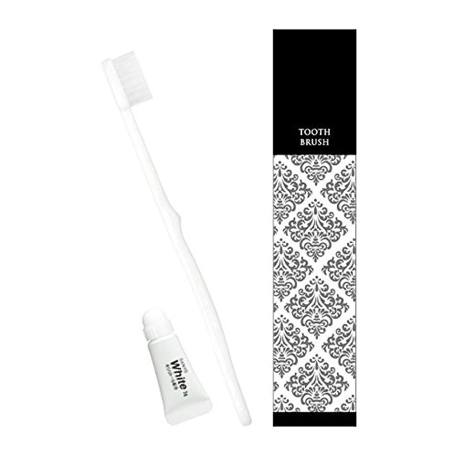 タクトピニオン準備したピエンタ ホテル業務用ハブラシ(白)28穴 3gチューブ付 50本