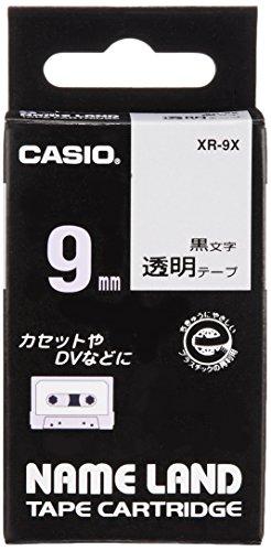 カシオ ネームランド ラベルライター テープ 9mm 透明 XR-9X