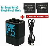 EMEBAY - Battery Storage Charging Box with 2 Battery Pack Rechargeable Battery for GoPro Hero 2018, Hero 7 Hero 6 Hero 5 Action Camera