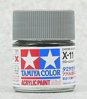 タミヤカラー アクリルミニ X-11 クロームシルバー 光沢