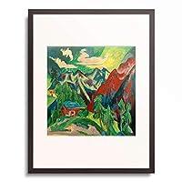 エルンスト・ルートヴィヒ・キルヒナー Ernst Ludwig Kirchner 「The Klosters Mountains」 額装アート作品