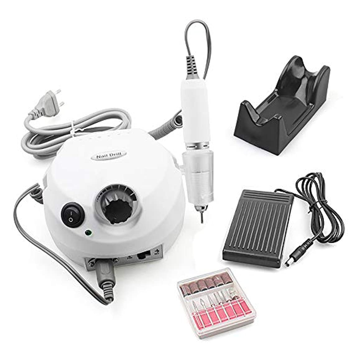 スラダム獣面積電気マニキュアペンマシン、プロフェッショナル30000Rpm電気ネイルアート、電気ネイルドリルマシンプロフェッショナルネイルファイルマニキュアペディキュア