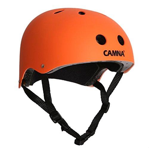 HONEI スポーツ ヘルメット 子供用 / 大人用 バブルシールド ジェット 耐水仕様 子供乗せ自転車 小学生 スケートボードなど適用 (オレンジ, Medium)