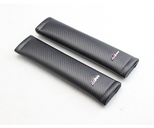 2個セット カーボンファイバータイプ Carbon Fiber Cloth M3 BMW シートベルト パッド カバー [並行輸入品]