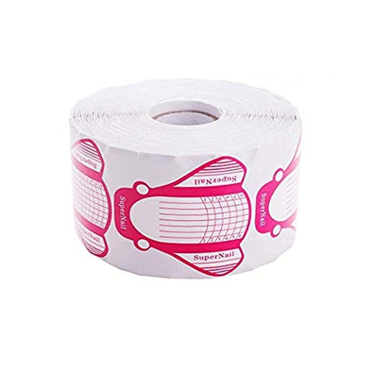 不適切なルーム唯一Makartt ネイルフォーム ネイル アート 長さだし用ネイルフォーム プロ用 3色 500枚入り (ピンク)