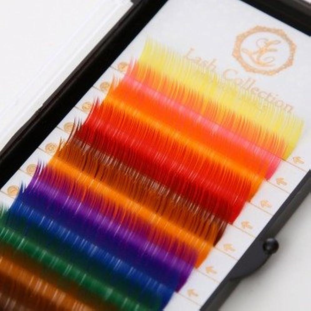 健康的ほこりっぽい百万Lash Collection サロン監修 セルフ用 カラーマツエク ラッシュ Cカール 12mm