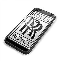 Rolls Royce Logo ロールス・ロイス IPhone 7/iPhone 8 ケース ポピュラー 携帯電話ケース すり傷防止 スマホケース 超薄型 耐衝撃 保護カバー リングブラケット付き TPU ソフトシリコン 強化ガラスバックカバー保護