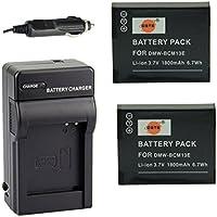 DSTE® アクセサリーキット Panasonic DMW-BCM13 互換 カメラ バッテリー 2個+充電キット対応機種 Lumix DMC-TZ60 ZS40 ZS45 ZS50 FT5 LZ40 TS5 TZ41 TZ55