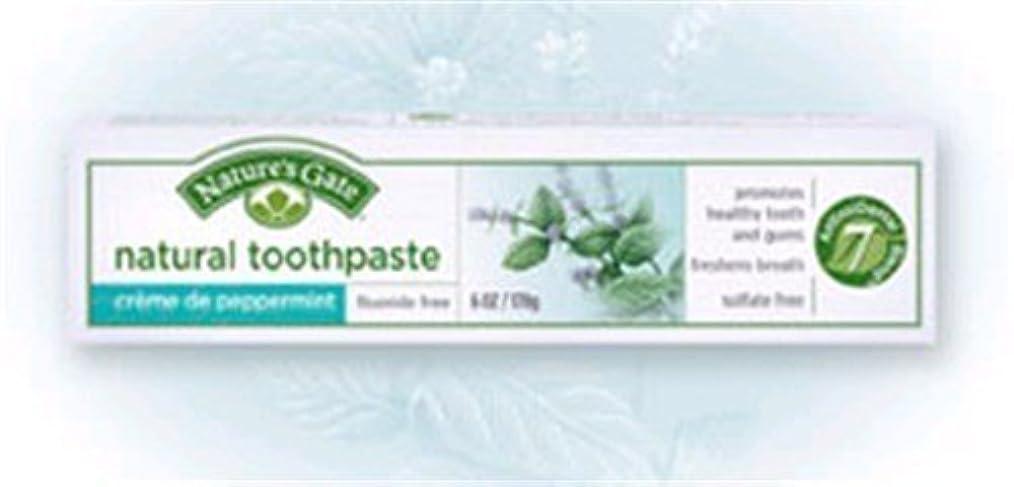 速度トレッド精巧なCreme de Peppermint Natural Toothpaste 6 Ounces by Nature's Gate [並行輸入品]