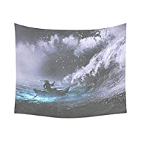 タペストリー Great Ocean Wave Home Decor Tapestries Wall Art,Hand Drawing Tapestry Wall Hanging Art Sets