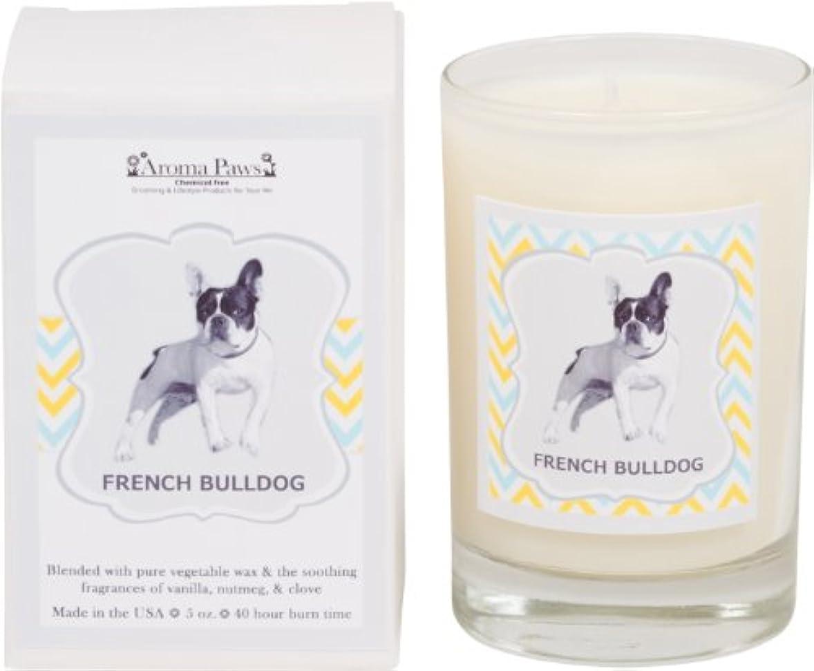 ドラフト移動豆腐Aroma Paws Breed Candle in Glass with Gift Box, French Bulldog by Aroma Paws