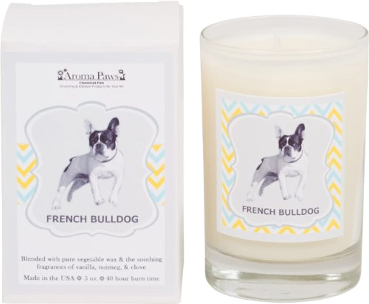 思春期海変形Aroma Paws Breed Candle in Glass with Gift Box, French Bulldog by Aroma Paws