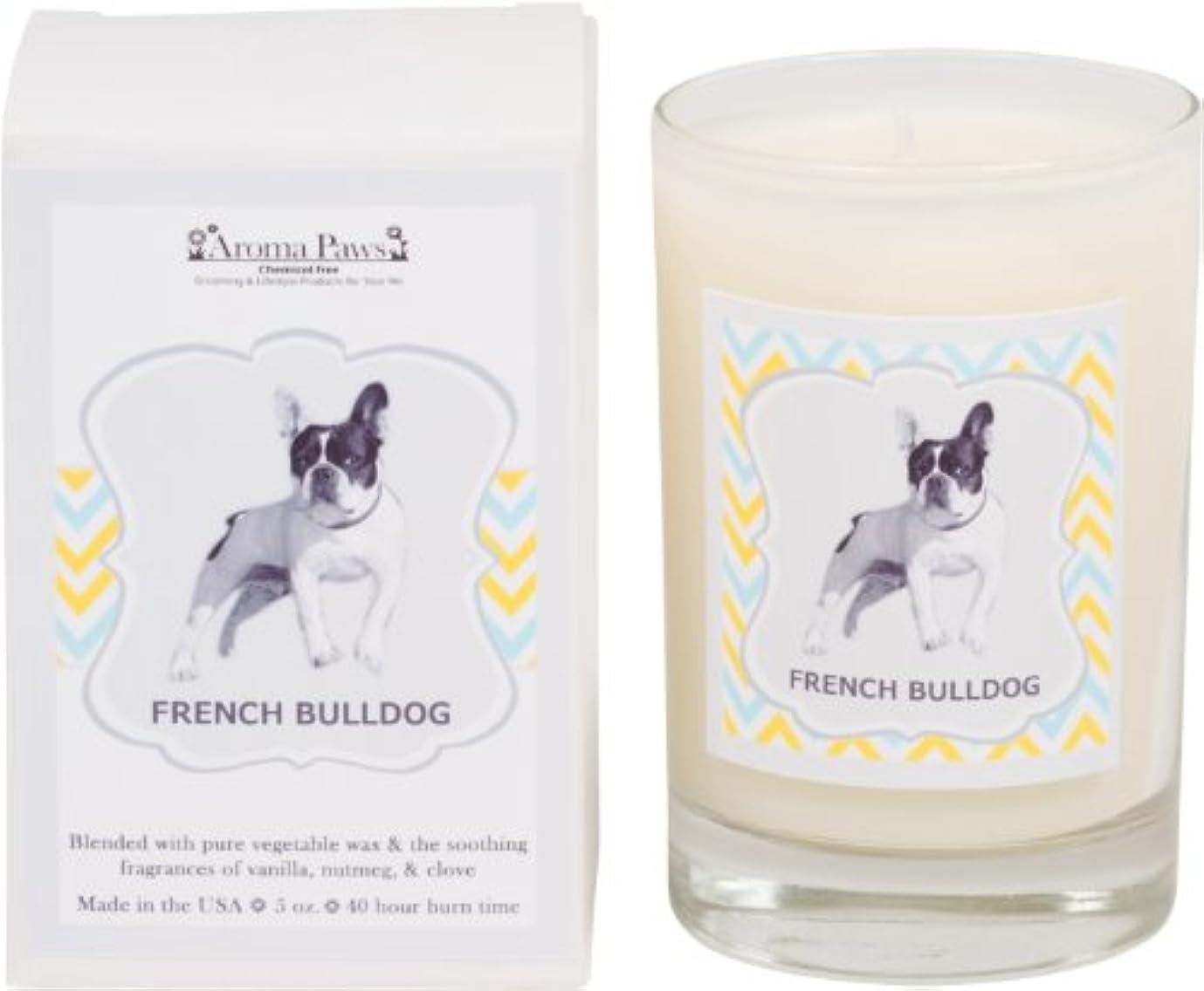 命題銀消費Aroma Paws Breed Candle in Glass with Gift Box, French Bulldog by Aroma Paws