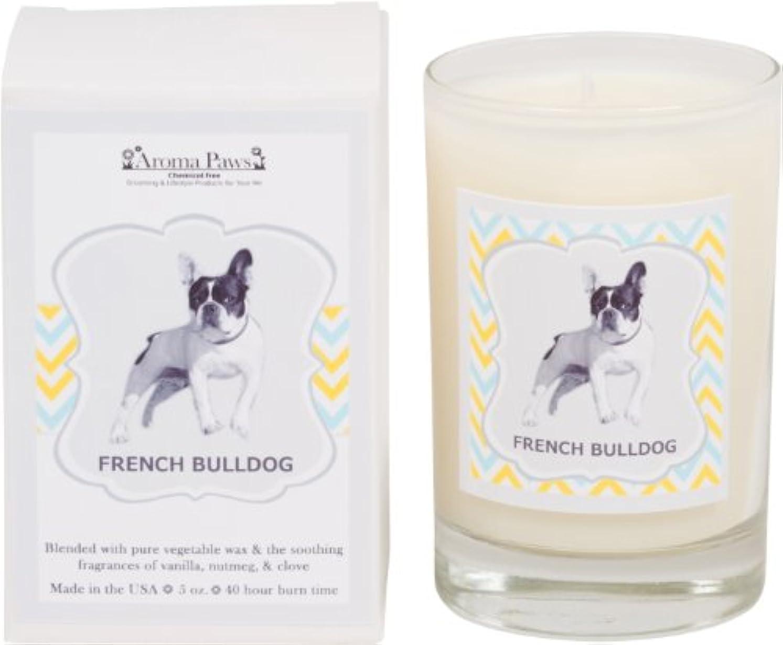 アルプス悪化させるただAroma Paws Breed Candle in Glass with Gift Box, French Bulldog by Aroma Paws