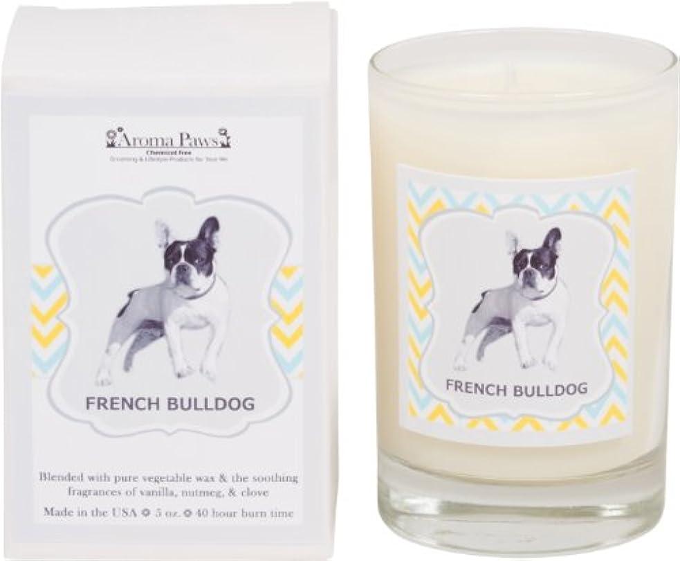 証拠回復敏感なAroma Paws Breed Candle in Glass with Gift Box, French Bulldog by Aroma Paws