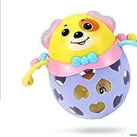 KEANER 新生児 乳児 ロールポリ おもちゃ 赤ちゃん プラスチック 犬 手 ガラガラガラ ベル キッズ おもしろボール おもちゃ ギフト (カラフル)