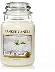 Yankee Candle 22-Ounce Jar Candle, Large, Fluffy Towels [並行輸入品]