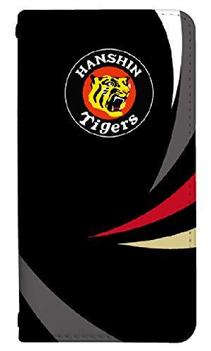 手帳型 スマホケース [LG style2 L-01L] ケース 手帳 おしゃれ かわいい キャラクター 阪神タイガース コラボ デザイン 野球 0201-C. ロゴ ブラック l-01l カバー エルジー スタイル2 l01l ケース 人気 ベルトなし
