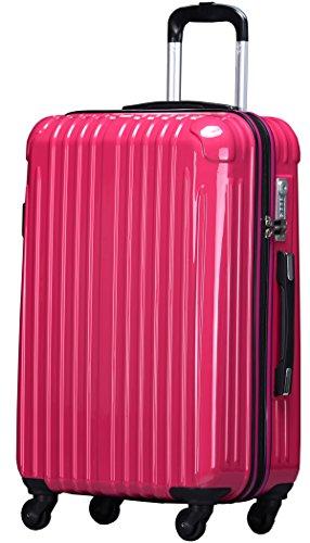 ラッキーパンダ スーツケース TY001 TSAロック ファスナータイプ 2年間修理保証 マゼンタ Sサイズ