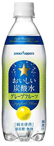ポッカサッポロ おいしい炭酸水 グレープフルーツ 500ml×24本