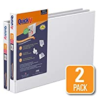 QuickFit Heavy Duty 11 x 17 Inch Spreadsheet View Binder, 1 Inch, Locking Angle D Ring, White, 2 Pack (94010-02) [並行輸入品]