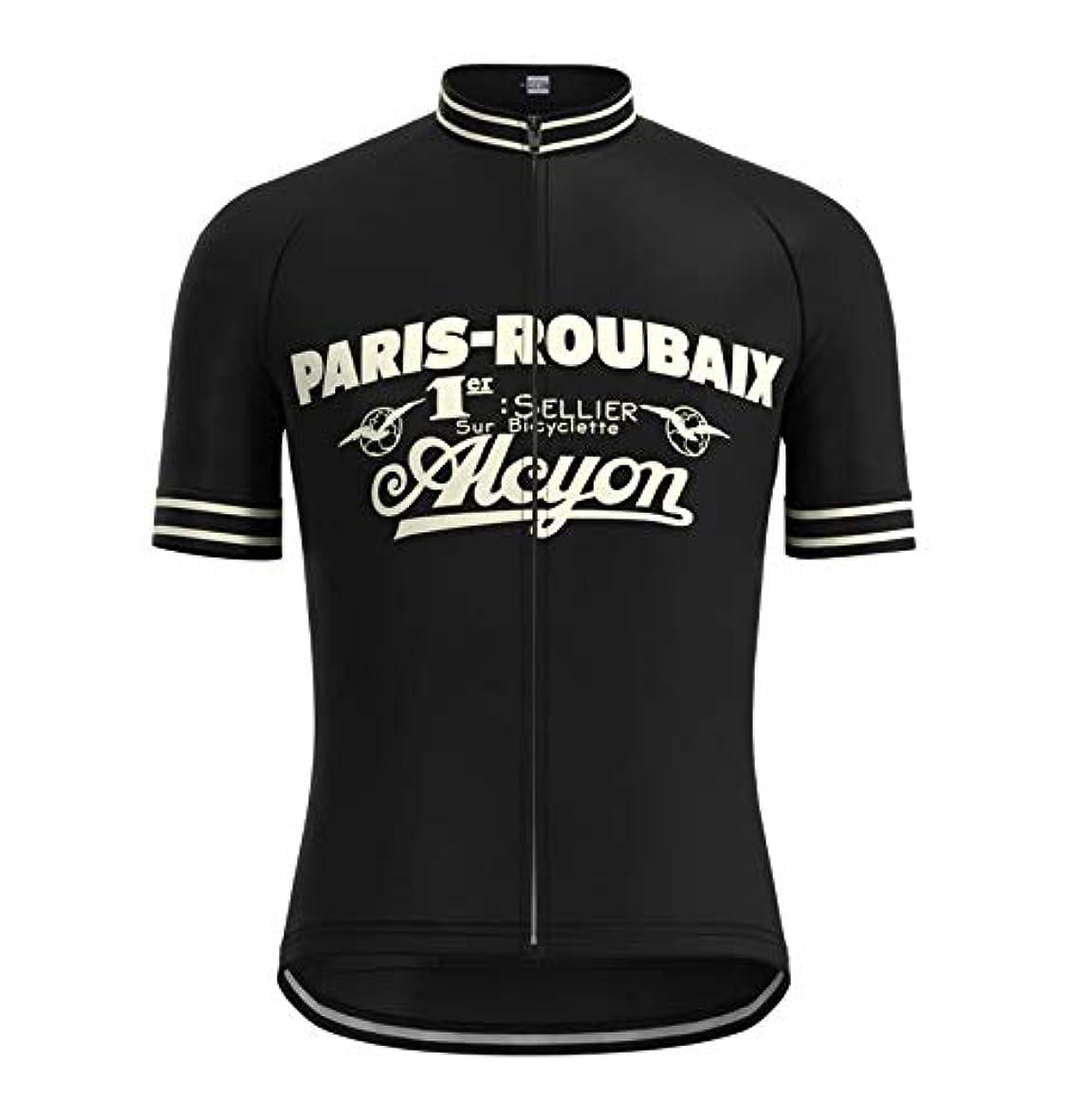 シャープせせらぎ闘争SUNRISE Clothing Co.(サンライズクロッシング) サイクルジャージ レトロデザイン No89 フランス メンズ 半袖 クールマックス仕様 自転車 MTB サイクリング ロードバイク