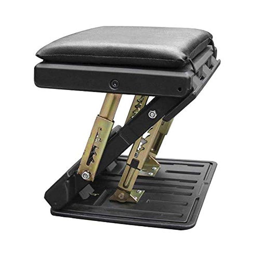 トロリーバスガスミネラル人間工学に基づいたフットレスト、デスク下のマッサージサーフェス付きチルト調整可能フットレスト、膝の痛みを和らげるフットレストクッション、車用、ホーム、オフィス、高脚