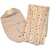 Plush Baby Swaddle with Ivory Polka Dot Baby Blanket [並行輸入品]