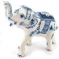 3 D Ceramic Toy Mom elephant Trunk Up Dollhouse Miniatures Free Ship by ChangThai Design [並行輸入品]