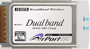 I-O DATA IEEE802.11a/g/b対応 無線LANアダプター(CardBus PCカード) [WN-WAG/CBH]