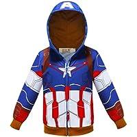 Toddler Boys Hoodies Jacket Superhero Zipper Spring Coat for Kids 1-7 Years