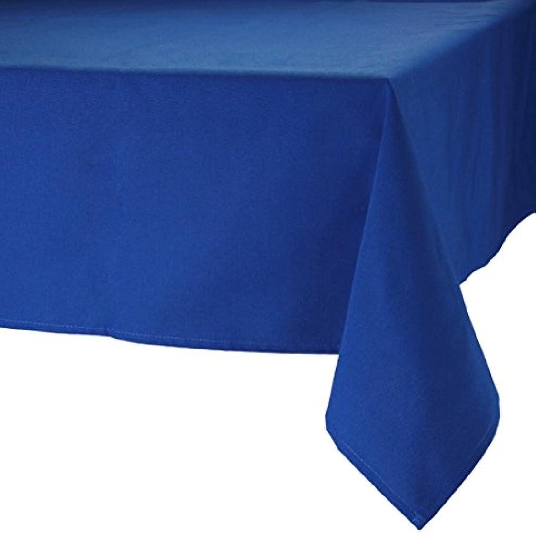 快適ライオネルグリーンストリート直立MAJEST(マジェスト) テーブルクロス 長方形160cmx260cm 布地 ロイヤル?ブルー 無地 繋なし 吸水タイプ