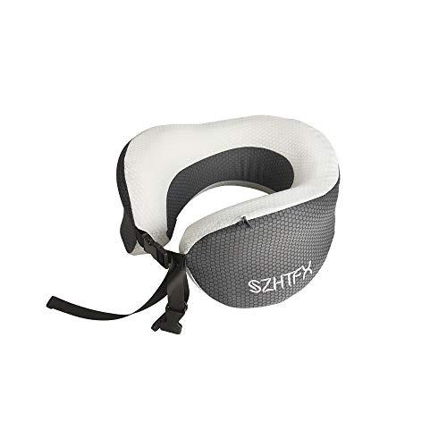 (涼しい版)ネックピロー 通気性が良く U型 首枕【超軽量250g/メモリー...
