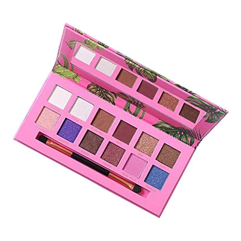 満州役割窓を洗うアイシャドウ パレット マット メイクパレット きらめく 12色 長持ち 防水 全2色 - ピンク