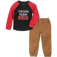CALVIN KLEIN Baby-Boys 2 Pieces Pant Set Pants Set - red - 12M