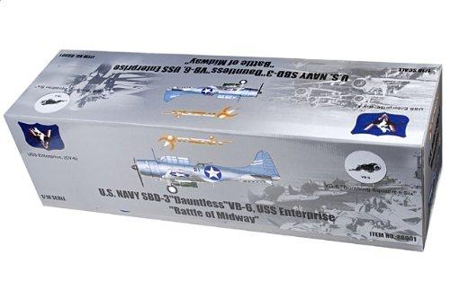 """1:18 メリットモデルズ 88001 ダグラス SBD-3 Dauntless ディスプレイ モデル USN VB-6 """"黒 B1"""" Richard Best USS Enterprise Batt"""