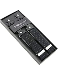 サスペンダーY型ヴィンテージ6ボタン男女兼用
